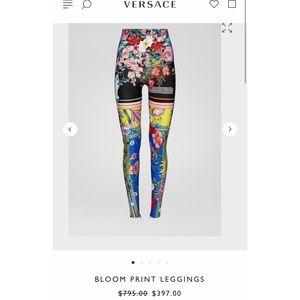 Versace bloom print leggings